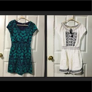 LOT OF 2 SUMMER SPRING DRESSES XS - S, 0-2